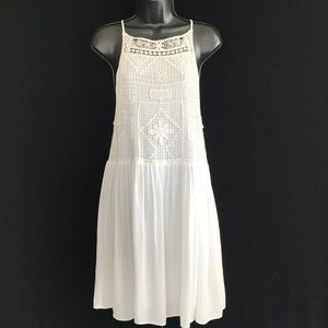 Charlotte Russe White Lace Tank Dress